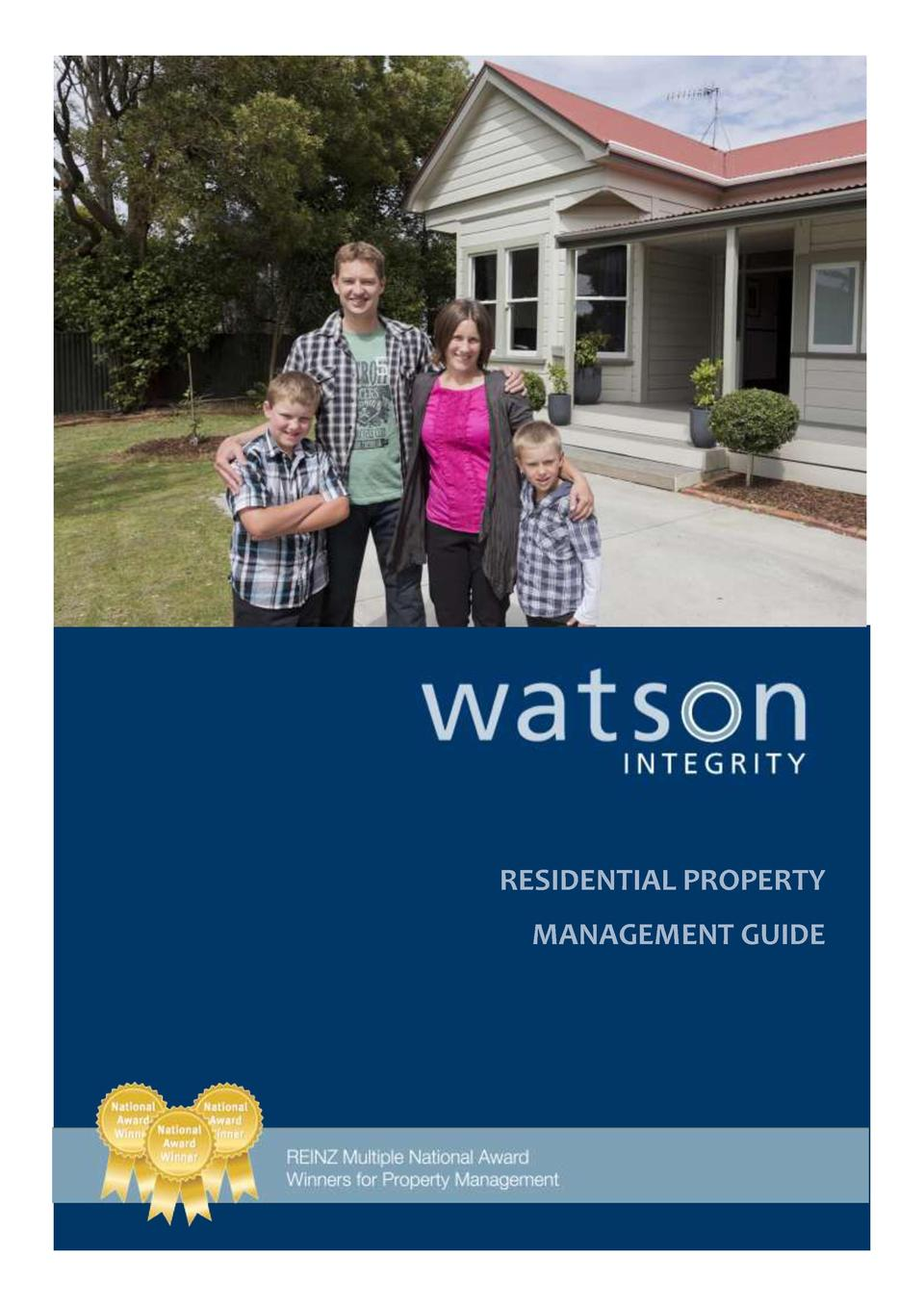 RESIDENTIAL PROPERTY MANAGEMENT GUIDE