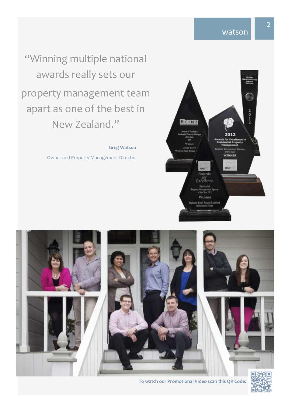 watson     Winning multiple national awards really sets our property management team apart as one of the best in New Zeala...
