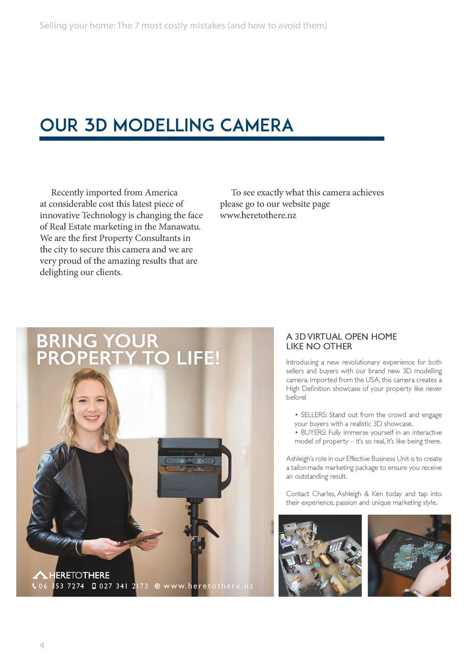 Selling your home  The 7 most costly mistakes  and how to avoid them   Our 3D Modelling Camera  Recently imported from Ame...