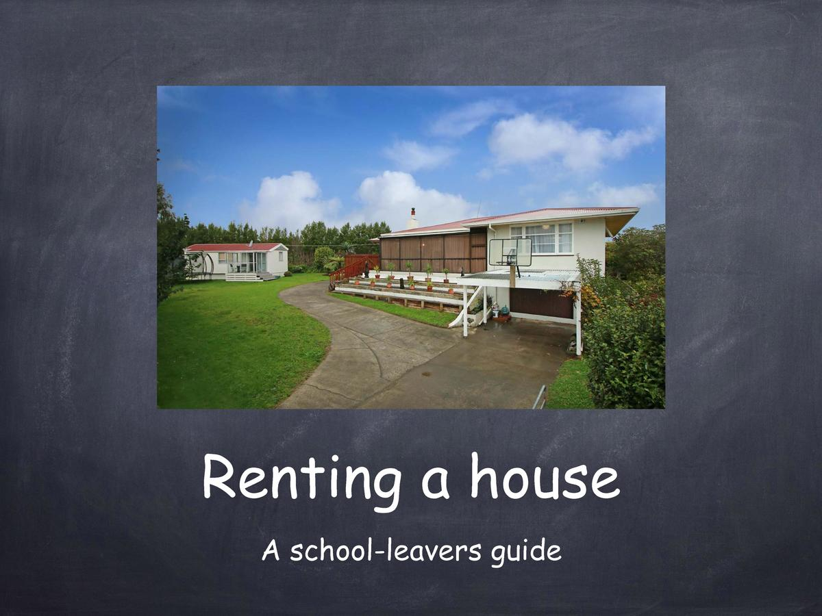 Renting a house A school-leavers guide