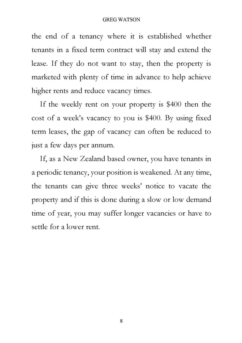 Greg Watson The End Of A Tenancy Where It Is Established Whether Tenants In  A Fixed