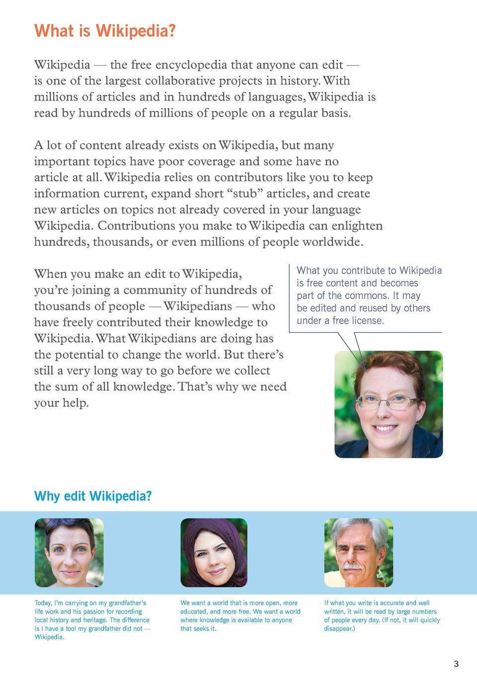 What is Wikipedia  Wikipedia     the free encyclopedia that anyone can edit     is one of the largest collaborative projec...