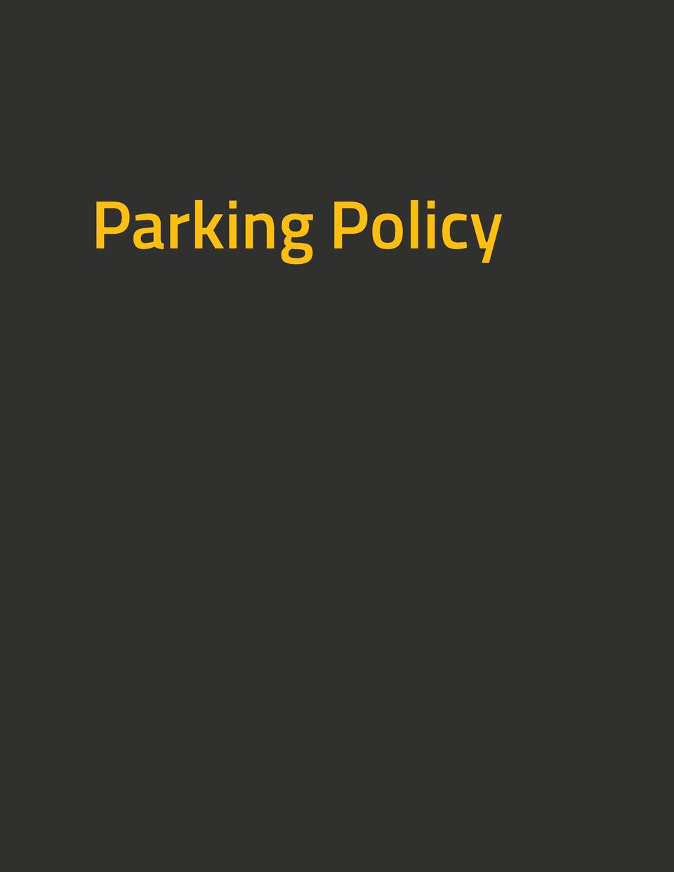 Parking Policy