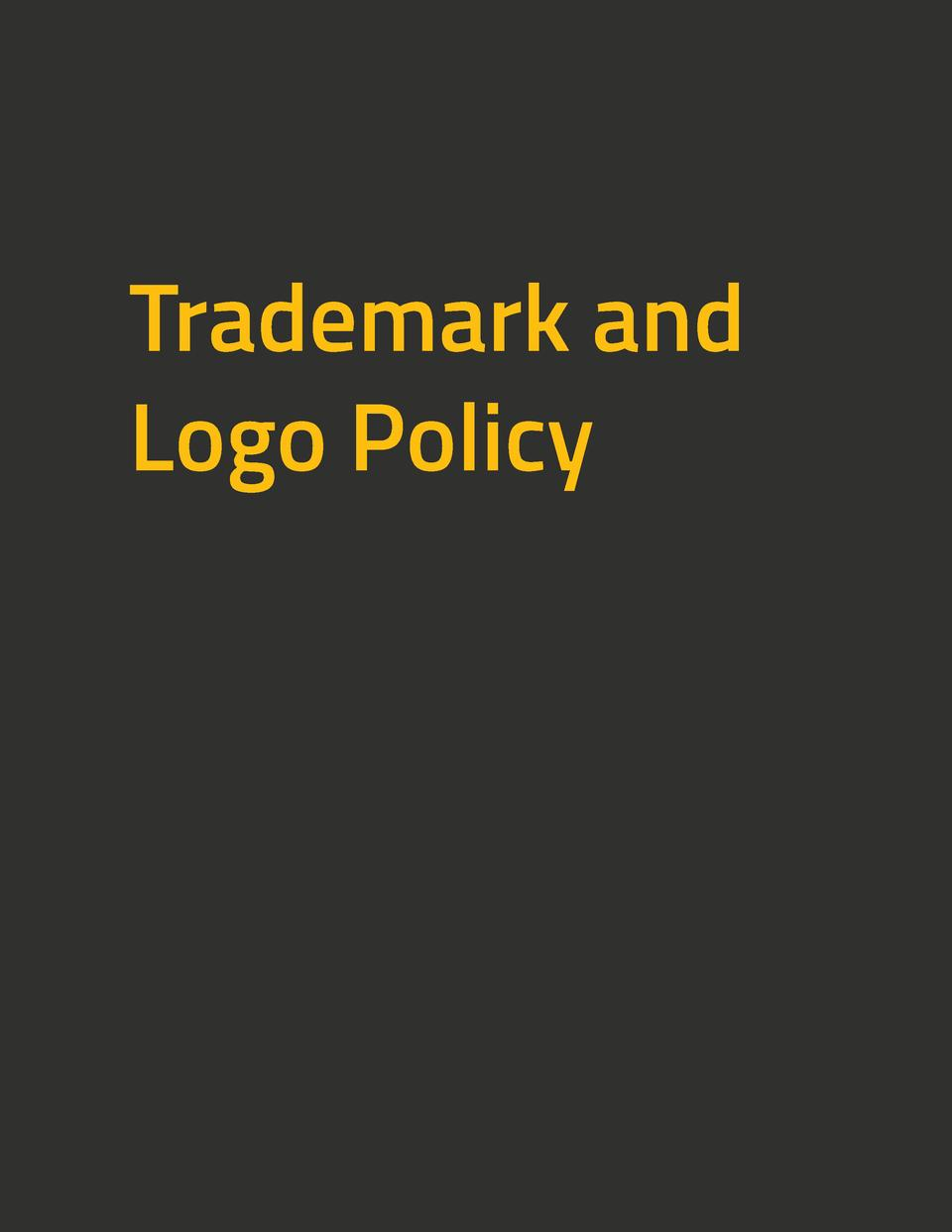 Trademark and Logo Policy