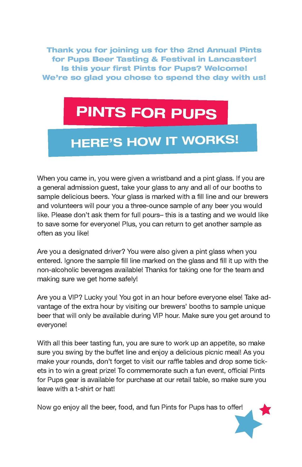 Thank you for joining us for the 2nd Annual Pints for Pups Beer Tasting   Festival in Lancaster  Is this your first Pints ...