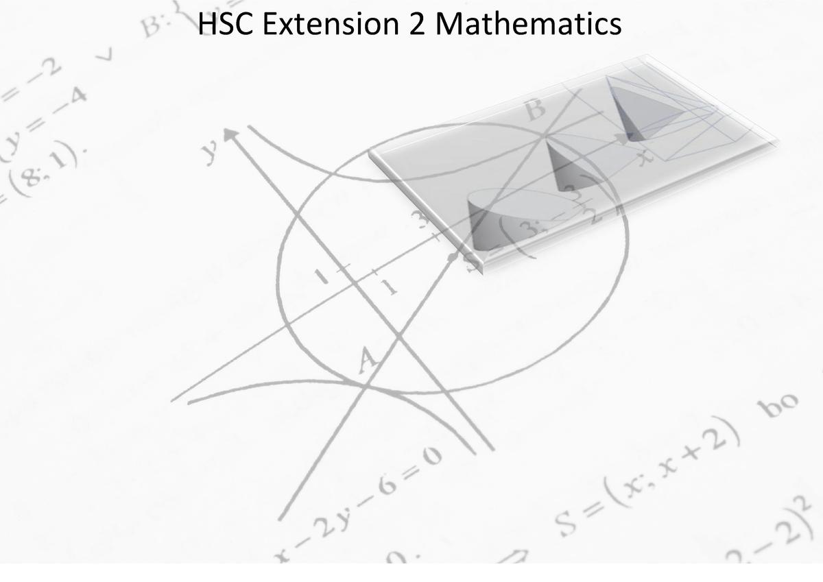 HSC Extension 2 Mathematics