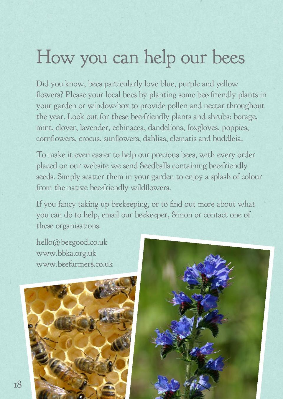 How you can help our bees  Awards and Accolades  Did you know, bees particularly love blue, purple and yellow flowers  Ple...