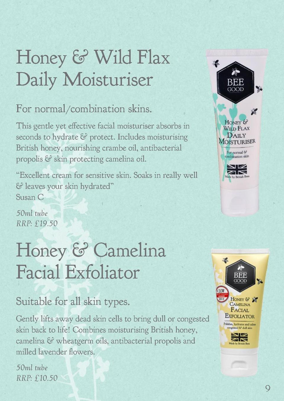 Honey   Wild Water Mint 3-in-1 Cleansing Water  Honey   Wild Flax Daily Moisturiser  Suitable for all skin types.  For nor...