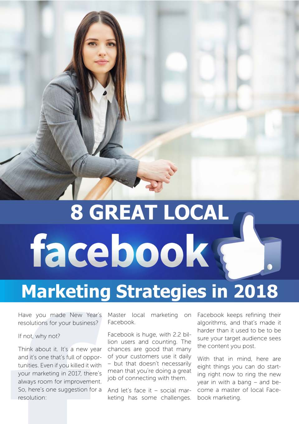 8 Great Local  Marketing Strategies in 2018 Have you made New Year   s resolutions for your business   Master local Facebo...