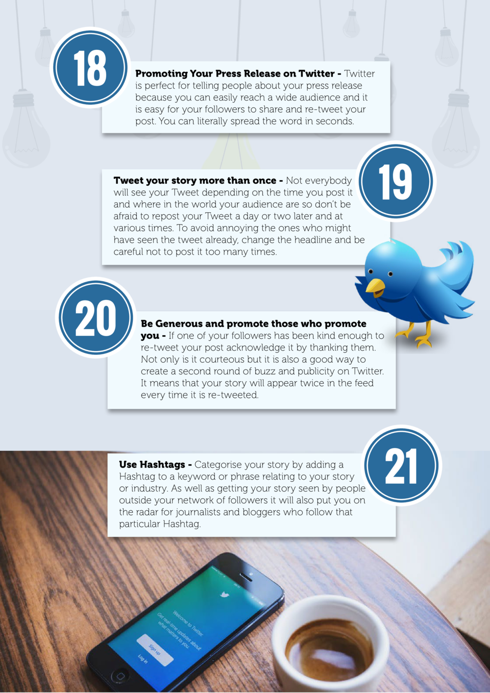 18  Promoting Your Press Release on Twitter - Twitter is perfect for telling people about your press release because you c...