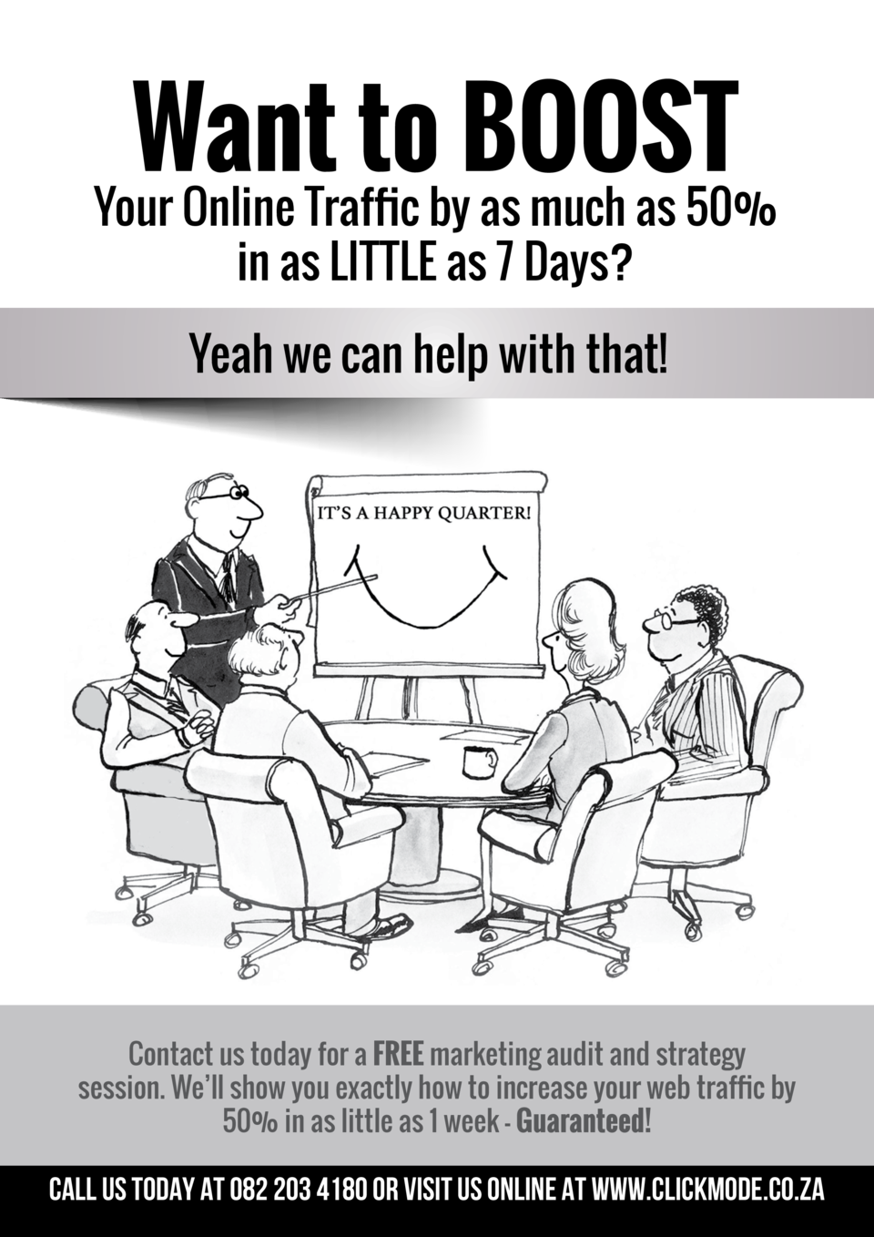 Want to BOOST  Your Online Traffic by as much as 50  in as LITTLE as 7 Days  Yeah we can help with that   Contact us today...