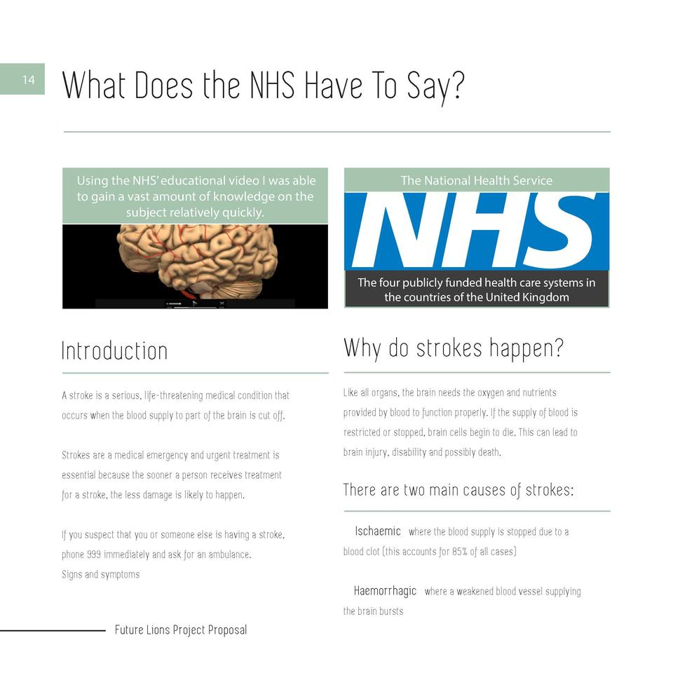 14  What Does the NHS Have To Say  Using the NHS    educational video I was able to gain a vast amount of knowledge on the...