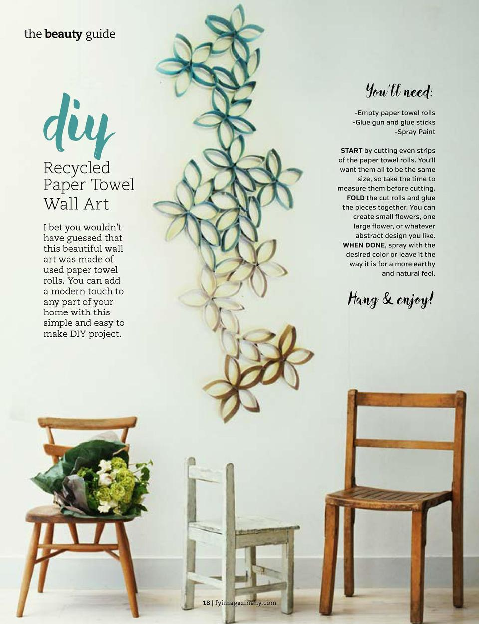 the beauty guide  the beauty guide  diy  You   ll need  -Empty paper towel rolls -Glue gun and glue sticks -Spray Paint  S...