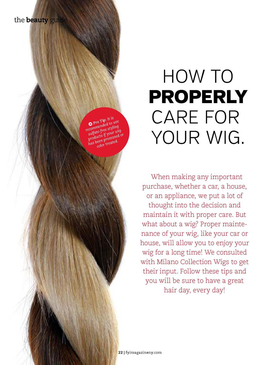 the beauty guide HAIR  the beauty guide    It is e o Tip us J Pr nded to g e omm ree st ylin g rec te-f r wi sulfa ts if y...