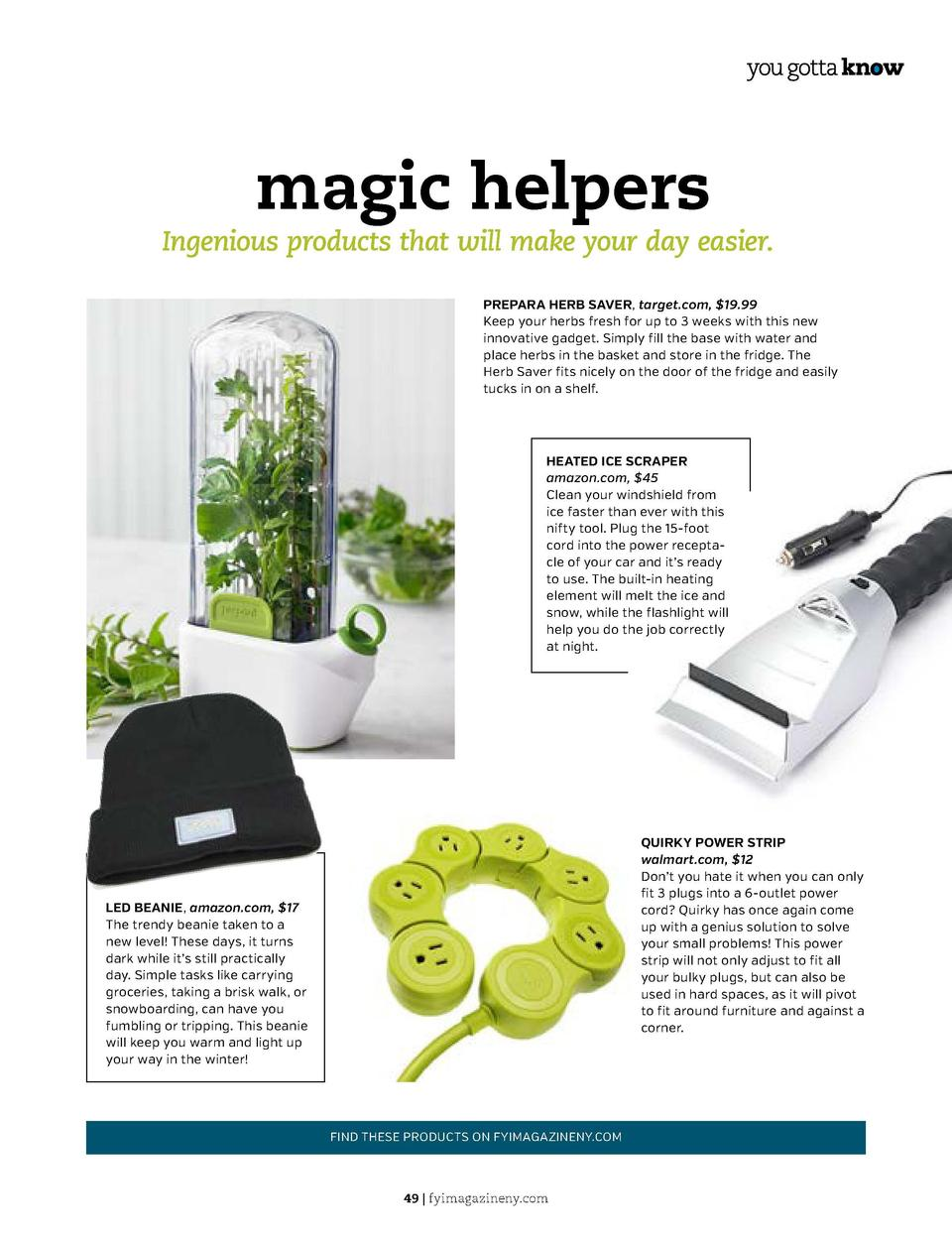 a closer look  Hand Sanitizer  magic helpers  Ingenious products that will make your day easier. PREPARA HERB SAVER, targe...