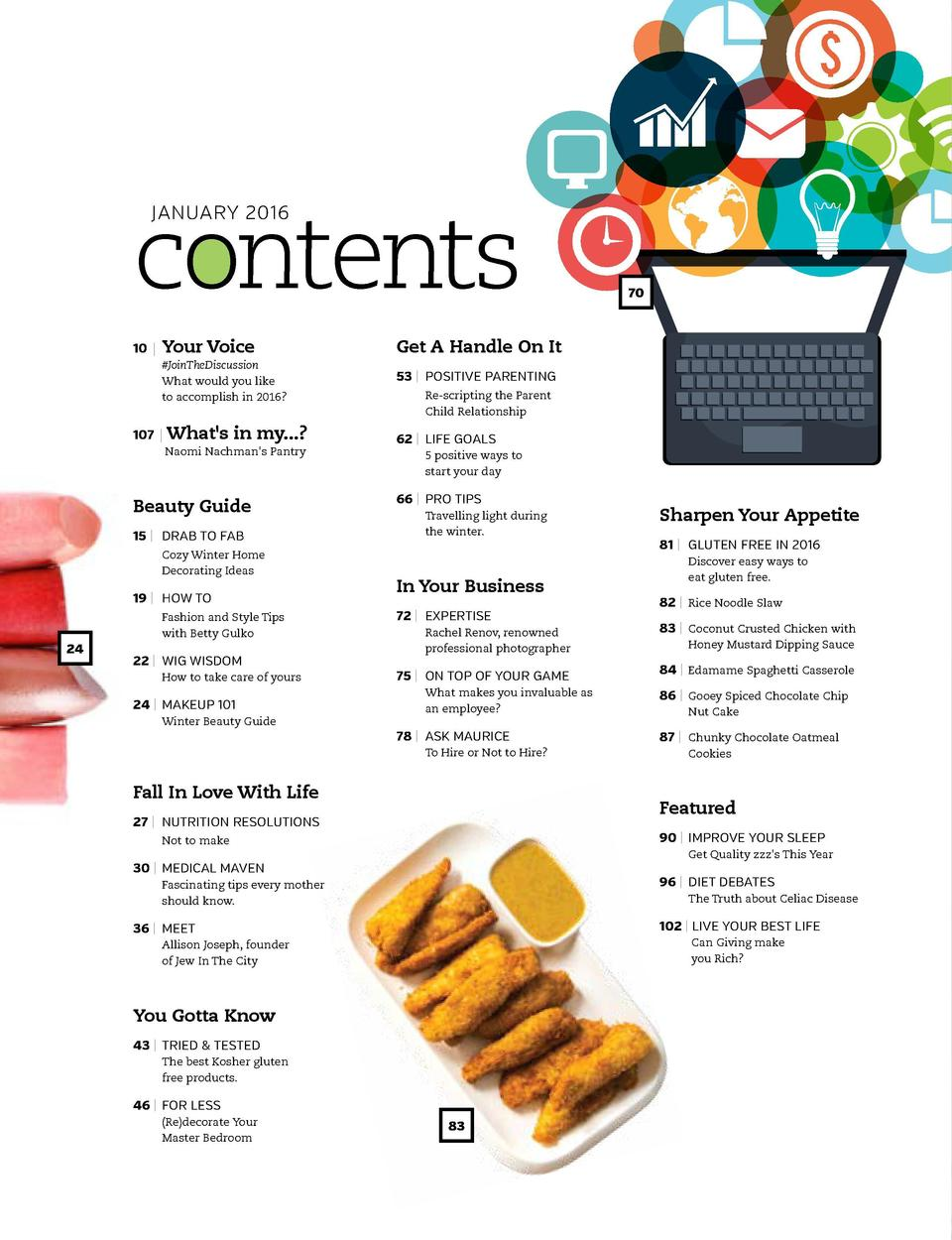 contents JANUARY 2016  10   Your  Voice   JoinTheDiscussion What would you like to accomplish in 2016   107    What s in m...