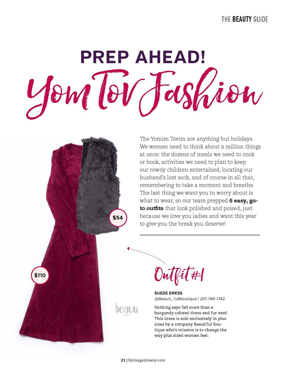 THE BEAUTY GUIDE  THE BEAUTY GUIDE  PREP AHEAD   Yom Tov Fashion  u  STEP 4  EYES We are almost done  Now apply mascara to...