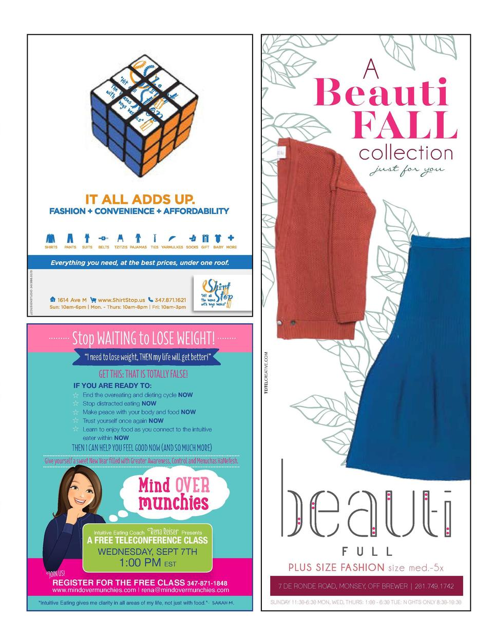 LOVE YOUR LIFE  A  Beauti FALL collection  Stop WAITING to LOSE WEIGHT     I need to lose weight, THEN my life will get be...