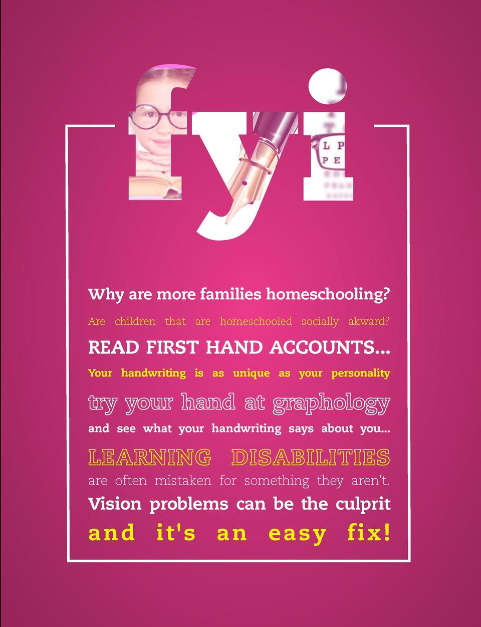 GET A HANDLE ON IT  Why are more families homeschooling  Are children that are homeschooled socially akward   READ FIRST H...