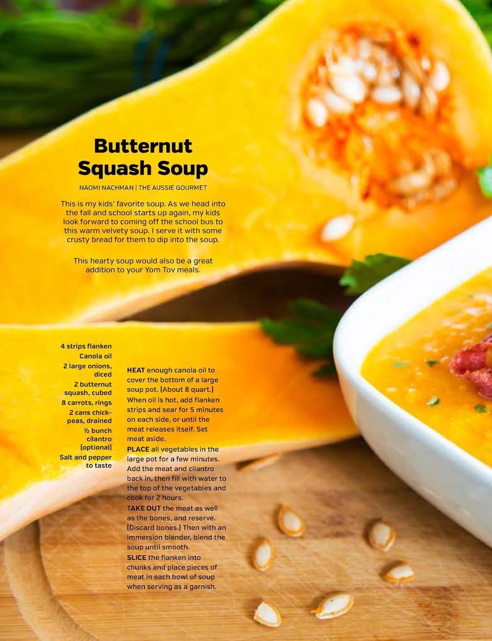 SHARPEN YOUR APPETITE  SHARPEN YOUR APPETITE  SOUP 1  SOUP 2  Butternut Squash Soup NAOMI NACHMAN   THE AUSSIE GOURMET  Th...