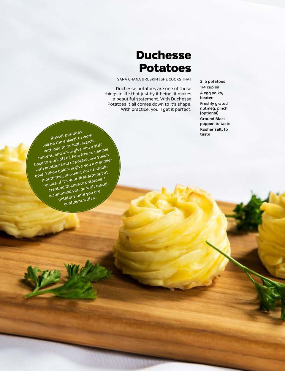 SHARPEN YOUR APPETITE  SHARPEN YOUR APPETITE  POTATOES 1  PEEL AND CUT potatoes2into large POTATOES pieces.  Duchesse Pota...