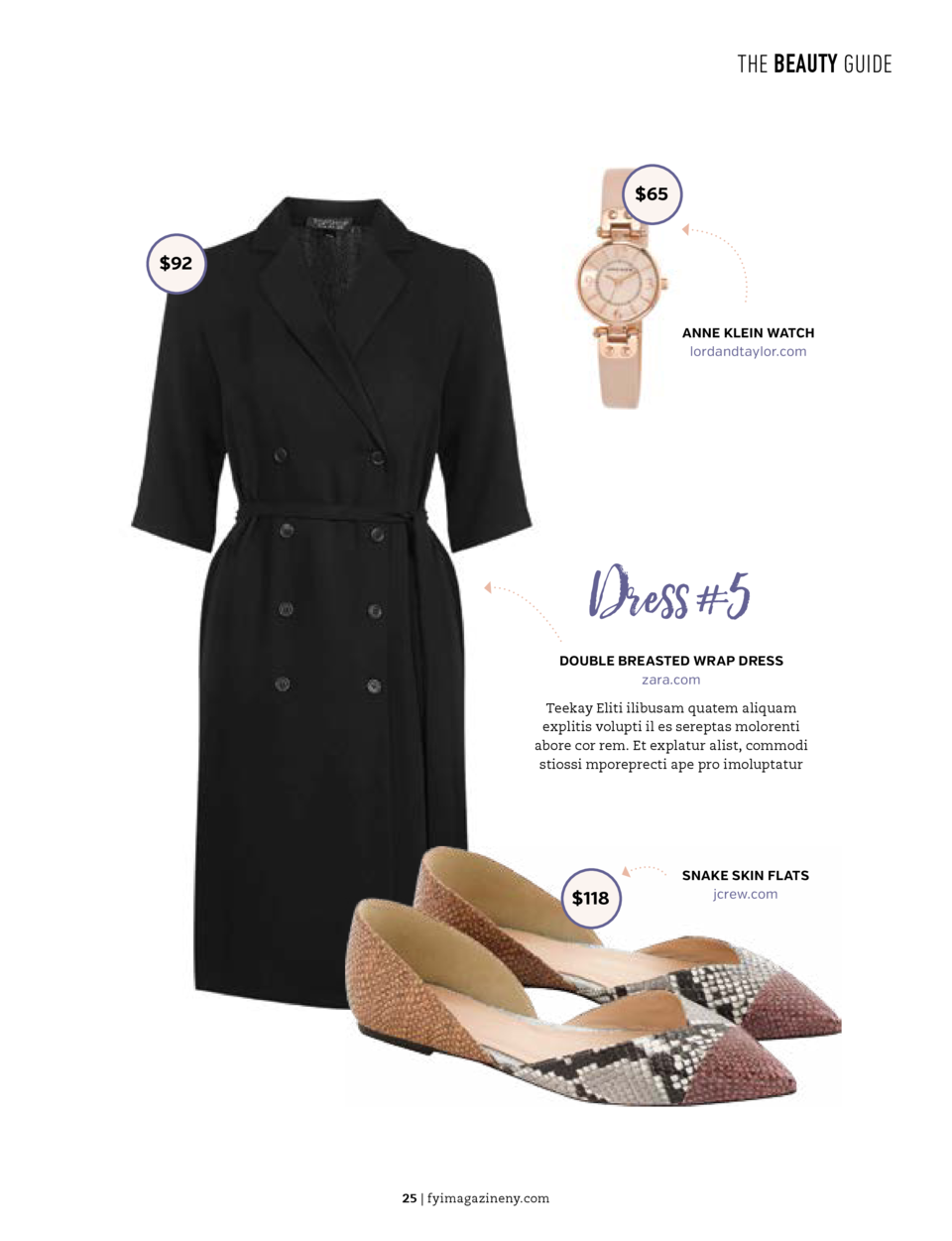 THE BEAUTY GUIDE  THE BEAUTY GUIDE  Dress  4   45   65  MEGAN DRESS chichilondon.com   100  GOLD CUFF stevemadden.com  Don...