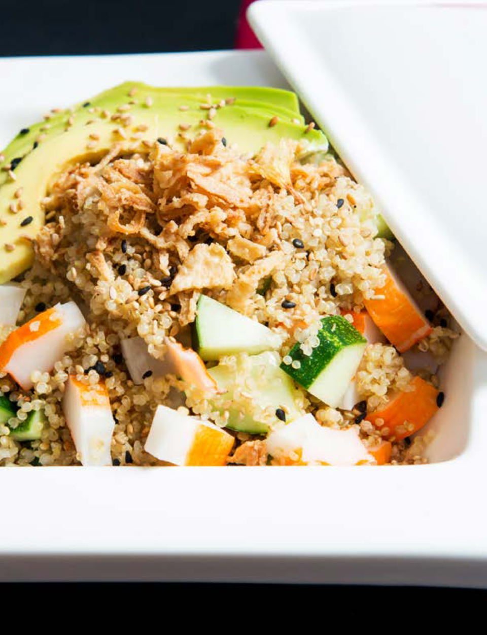 SHARPEN YOUR APPETITE  SHARPEN YOUR APPETITE  Quinoa Sushi Salad ESTY WOLBE   COOKING WITH TANTRUMS  The holidays are noto...