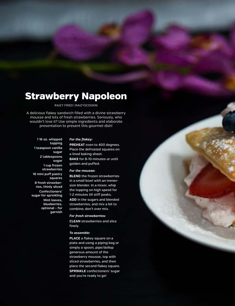 SHARPEN YOUR APPETITE  SHARPEN YOUR APPETITE  Strawberry Napoleon RAIZY FRIED   RAIZYSCOOKIN  A delicious flakey sandwich ...