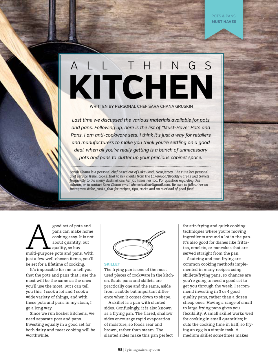 POTS   PANS  MUST HAVES  SHARPEN YOUR APPETITE  A L L  SHARPEN YOUR APPETITE  T H I N G S  KITCHEN WRITTEN BY PERSONAL CHE...