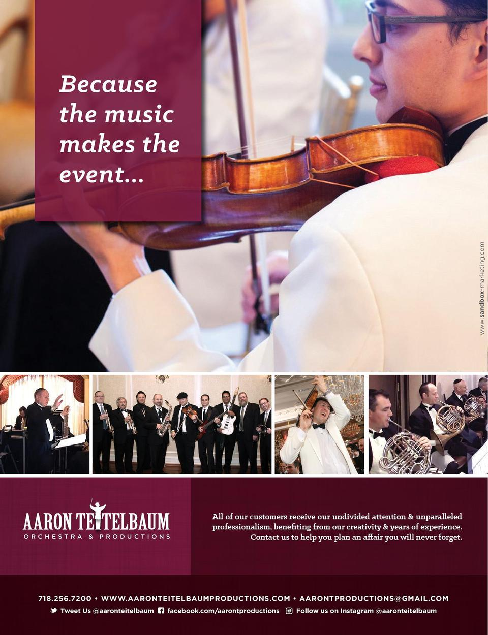 www.sandbox-marketing.com  Because the music makes the event...  Got the Flu   ORCHESTRA     PRODUCTIONS  All of our custo...