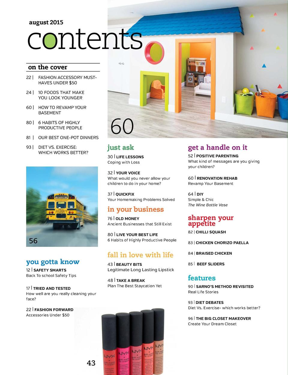 contents august 2015  SUKKAH NOW  on the cover 22    FASHION ACCESSORY MUST-    HAVES UNDER  50 24    10 FOODS THAT MAKE  ...
