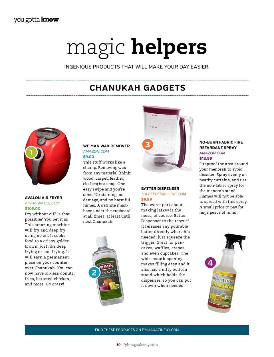 magic helpers INGENIOUS PRODUCTS THAT WILL MAKE YOUR DAY EASIER.  TIDBITS OF INFORMATION THAT   S GOOD TO KNOW WHEN IN A C...