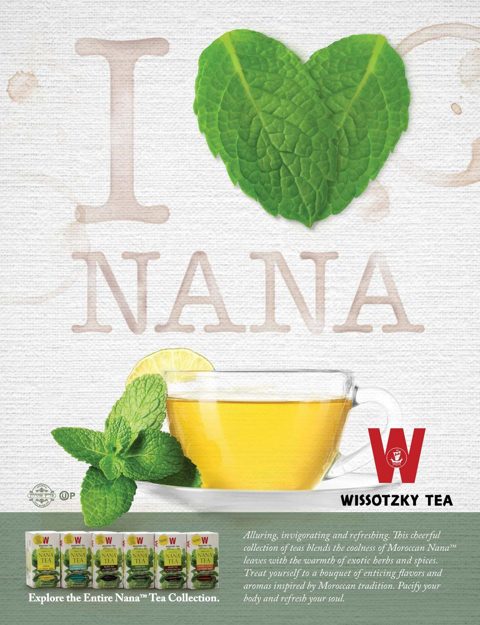 Alluring, invigorating and refreshing. This cheerful collection of teas blends the coolness of Moroccan Nana    leaves wit...