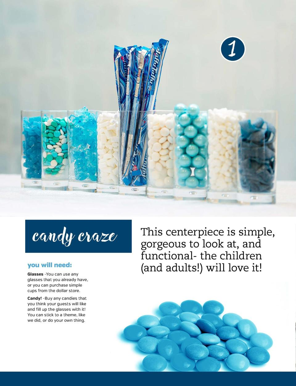 2  1  Chic and classy, this centerpiece can be a great addition to an elegantlyset chanukah table. All the items here were...
