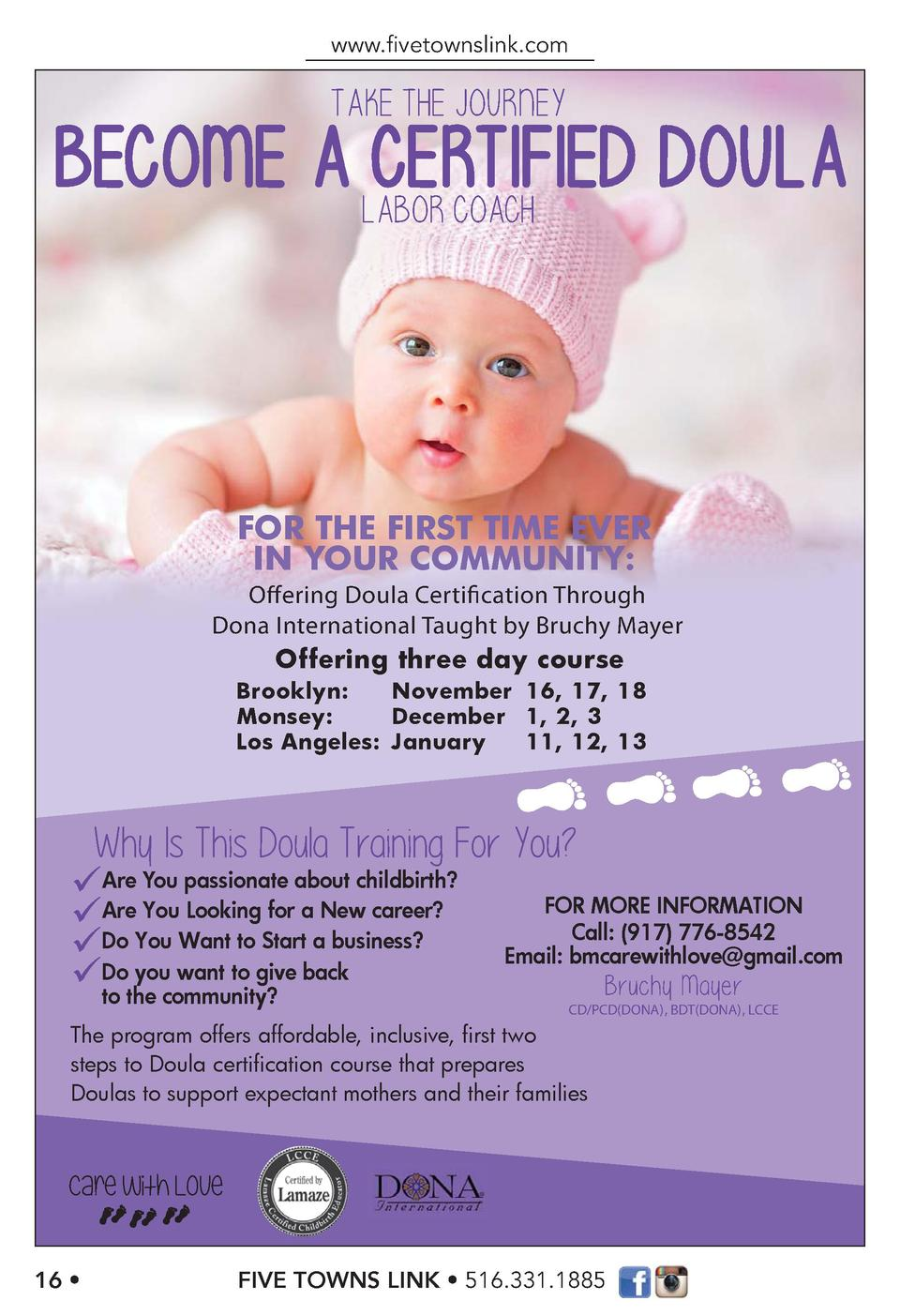 www.   vetownslink.com  TAKE THE JOURNEY LABOR COACH  FOR THE FIRST TIME EVER IN YOUR COMMUNITY  Offering Doula Certificat...