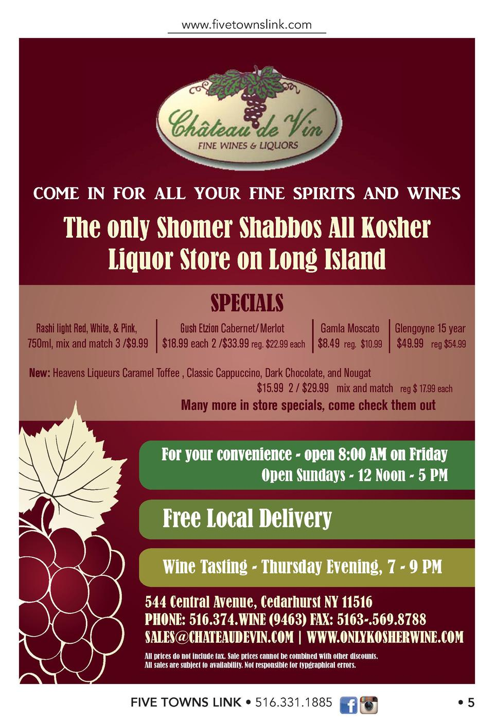 www.   vetownslink.com  COME IN FOR ALL YOUR FINE SPIRITS AND WINES  The only Shomer Shabbos All Kosher Liquor Store on Lo...