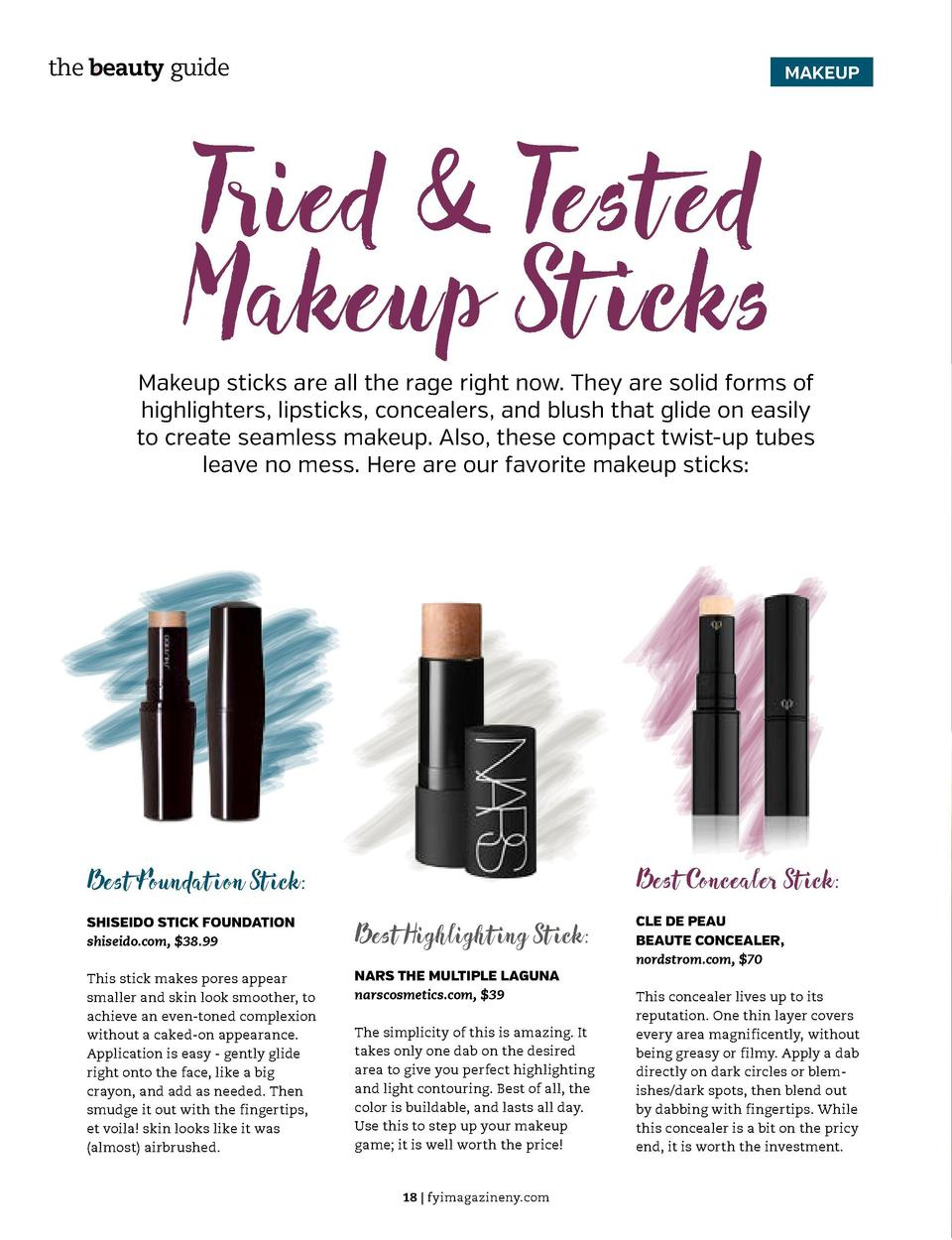 the beauty guide  MAKEUP  Tried   Tested Makeup St icks  Makeup sticks are all the rage right now. They are solid forms of...