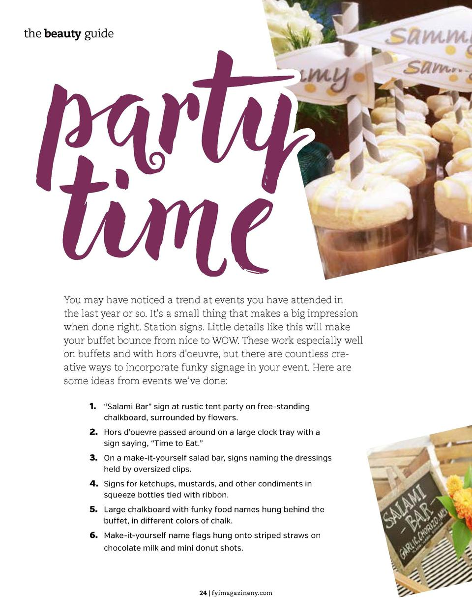 party time  the beauty guide  the beauty guide  You may have noticed a trend at events you have attended in the last year ...