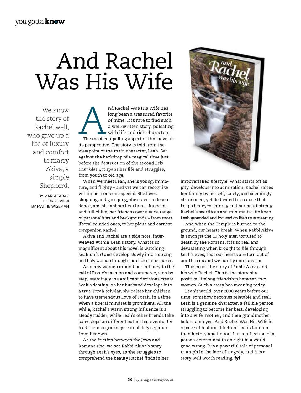 children   s book review  And Rachel Was His Wife We know the story of Rachel well, who gave up a life of luxury and comfo...