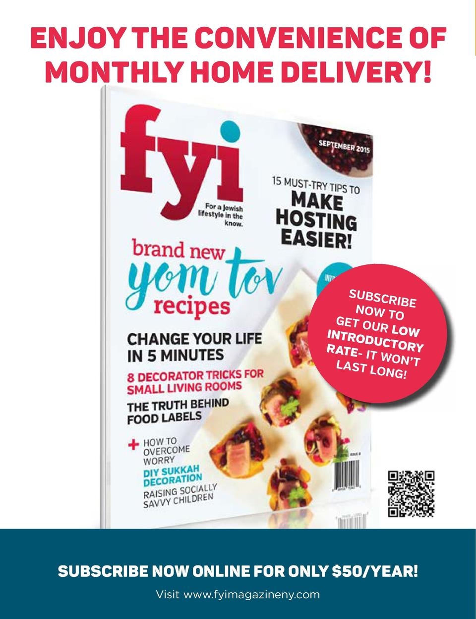 ENJOY THE CONVENIENCE OF MONTHLY HOME DELIVERY   ad  subscription page to the magazinewith the cover and low introductory ...