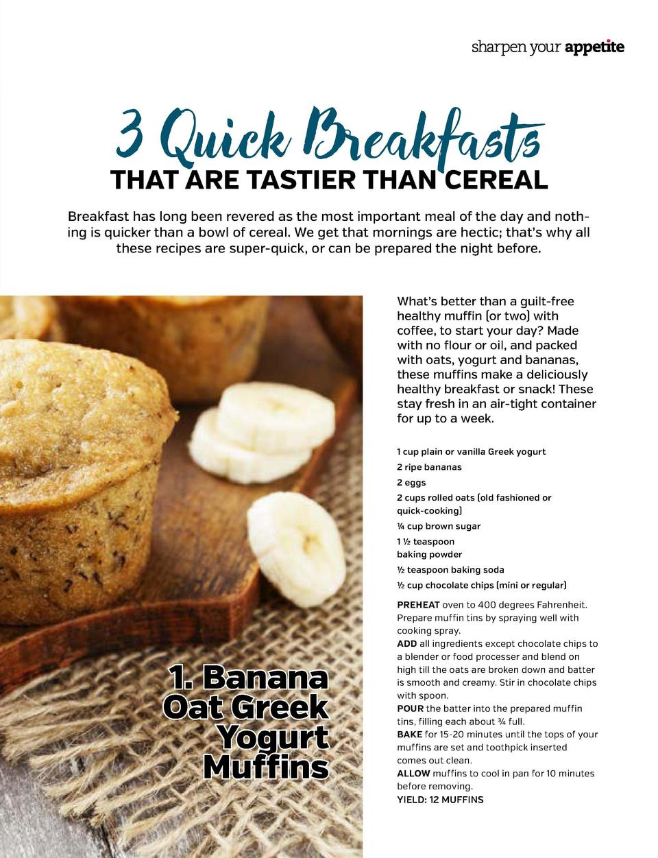3 Quick Breakfasts  THAT ARE TASTIER THAN CEREAL Creamy Asparagus-Basil Soup DINI DELIVERS   DINI KLEIN  Breakfast has lon...