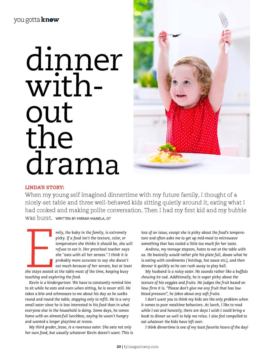 you gotta know  you gotta know  dinner without the drama     Many families struggle with keeping order at mealtime. Luckil...