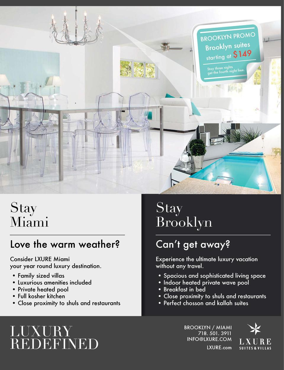 BROOKLYN  fall in love with life  PROMO  es Brooklyn suit starting at   149  ghts Stay three ni night free. get the four t...