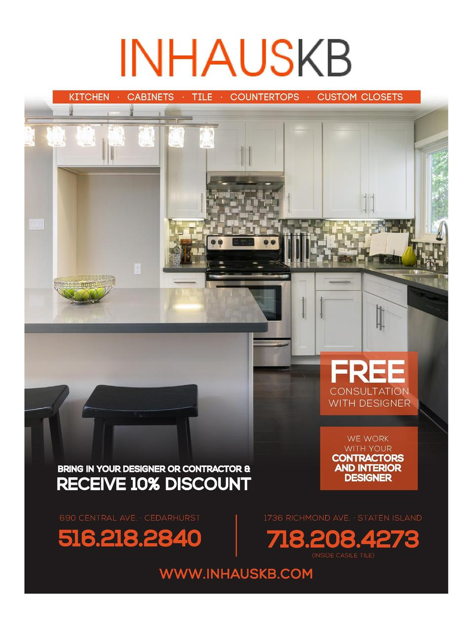 THE ONE STOP SHOP FOR ALL YOUR REMODELING NEEDS  KITCHEN    CABINETS    TILE    COUNTERTOPS    CUSTOM CLOSETS Ad  contents...