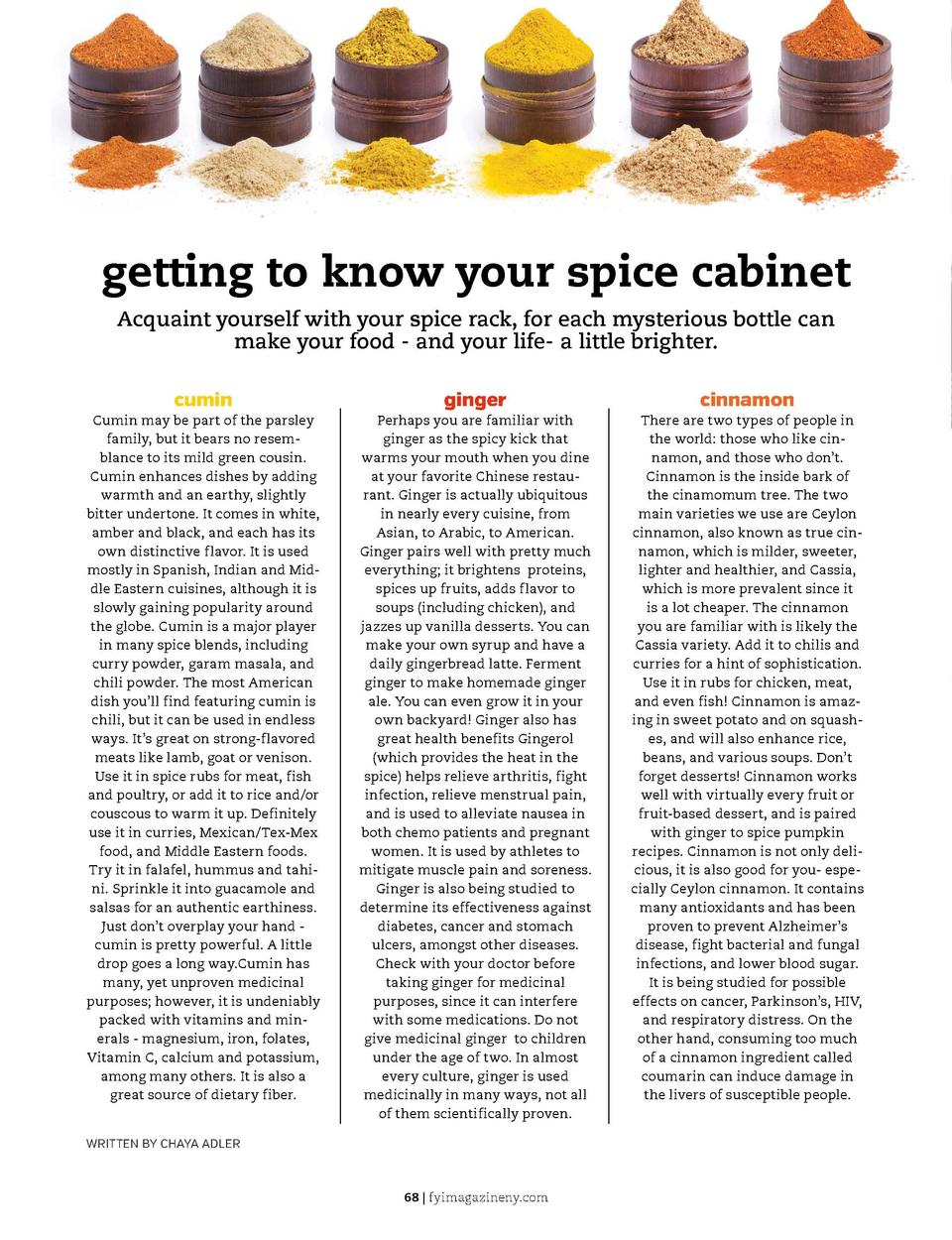get a handle on it  get a handle on it  getting to know your spice cabinet Acquaint yourself with your spice rack, for eac...