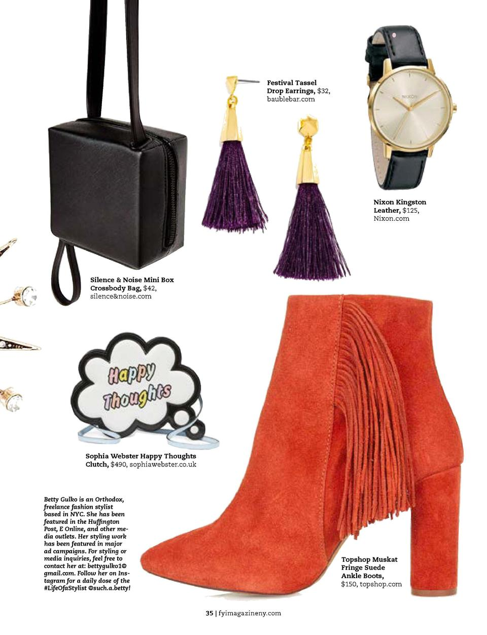 FASHION  the beauty guide  fall accessory report  Festival Tassel Drop Earrings,  32, baublebar.com  Today it   s all abou...