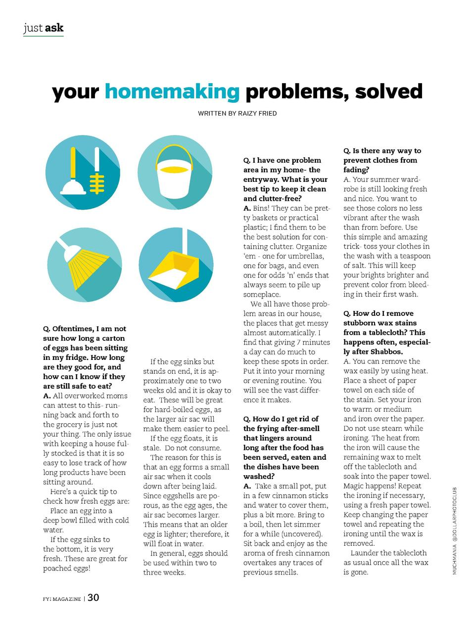 just ask  just ask  your homemaking problems, solved     There are no perfect homemakers     just real moms, deciding what...