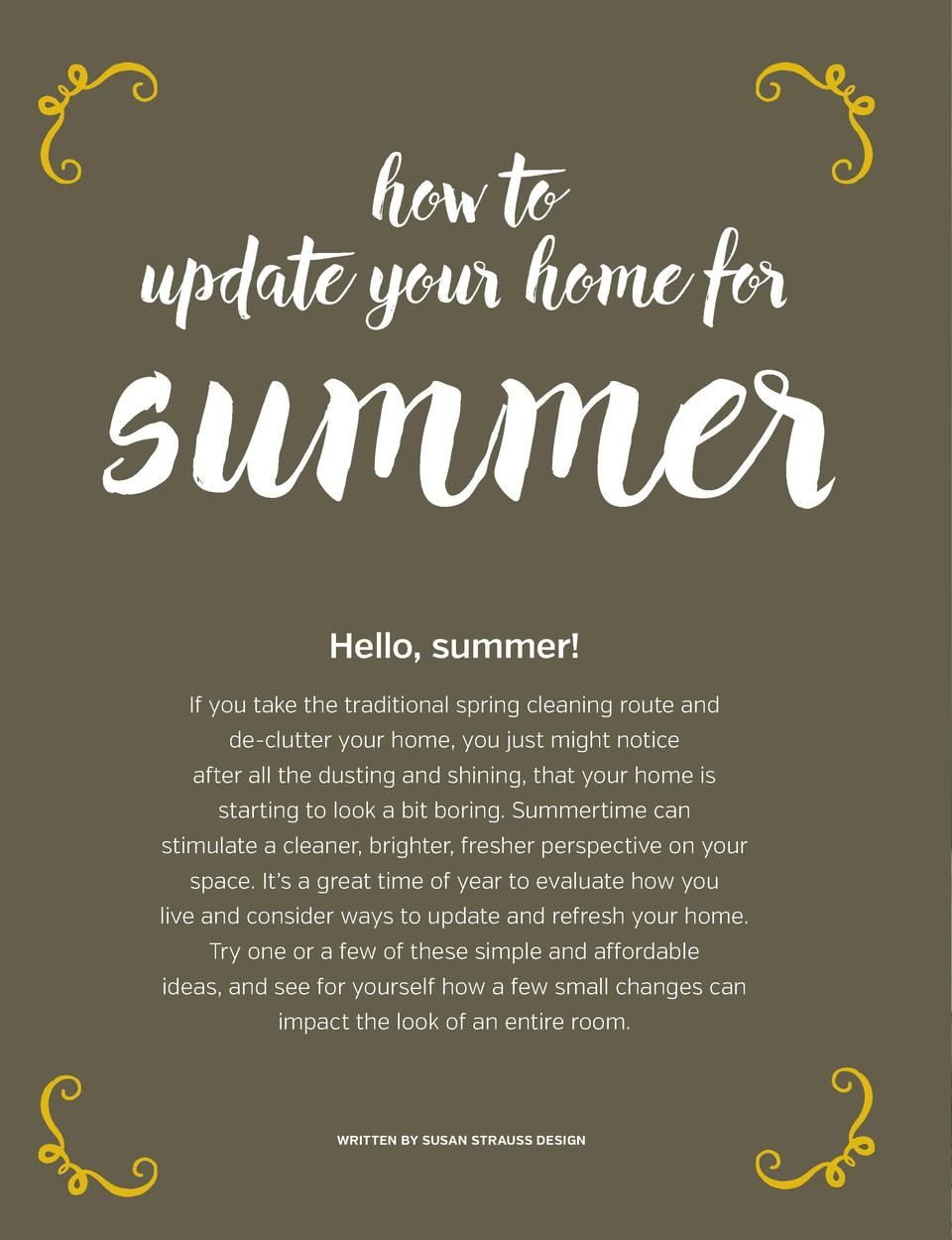 get a handle on things      get a handle on things    how to update your home for  summer  w a cc en t s ye l l o   ng t...