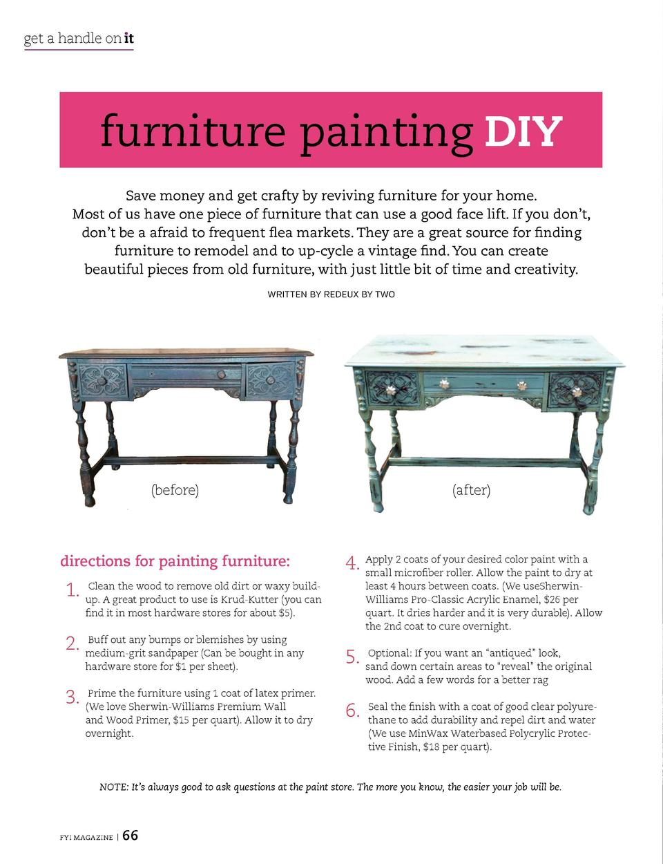 get a handle on   t  get a handle on   t  furniture painting DIY Save money and get crafty by reviving furniture for your ...