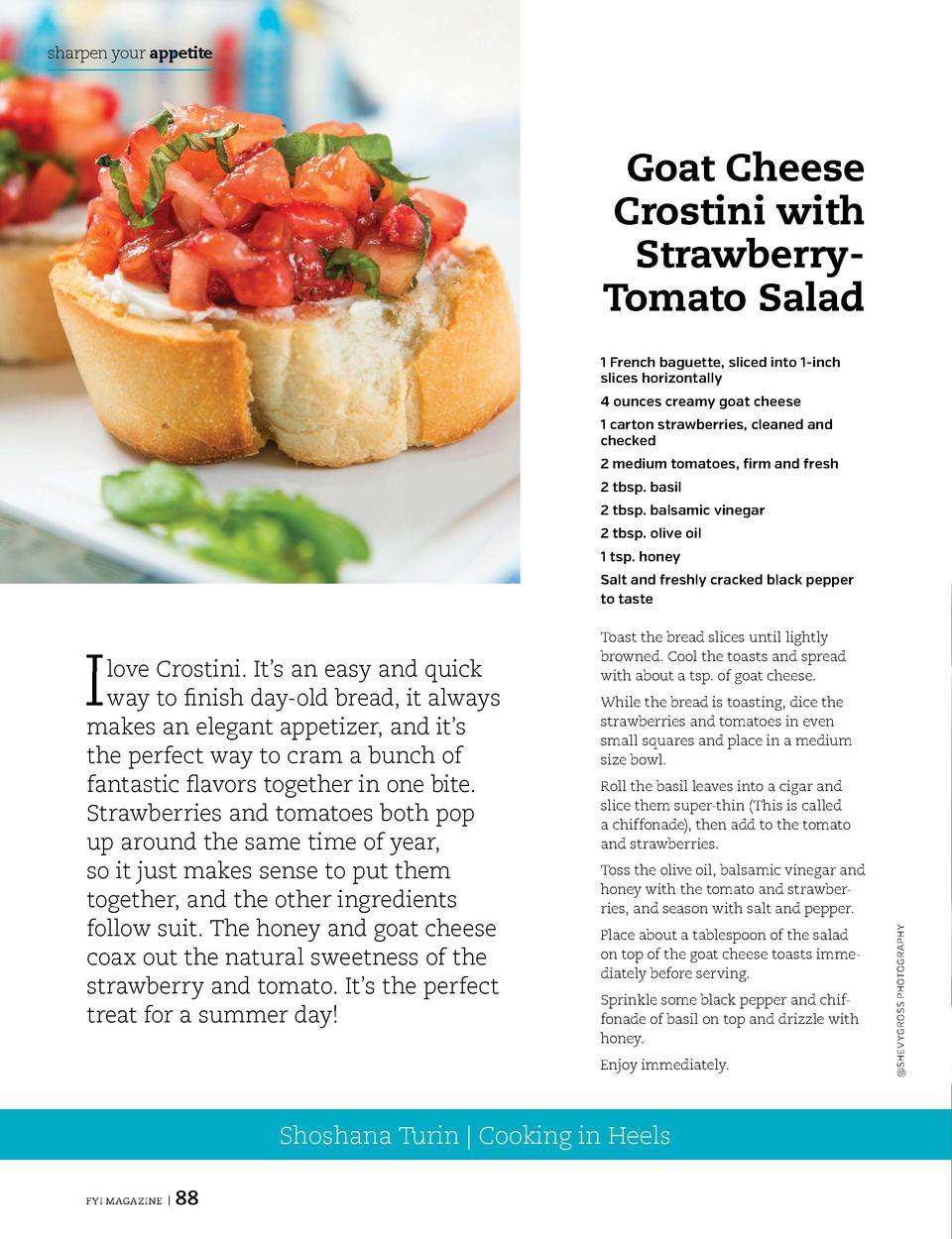 sharpen your appetite  sharpen your appetite  Goat Cheese Crostini with StrawberryTomato Salad  Sweet Hawaiian Chicken Thi...